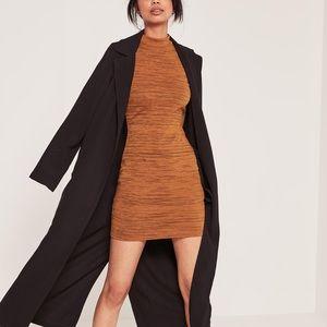 Missguided bodycon tan dress